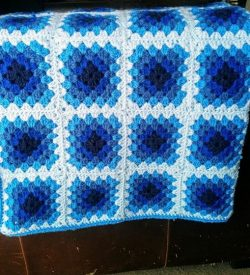 Crochet Blues Baby Blanket