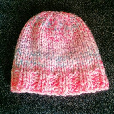 Multi Pink Baby Hat