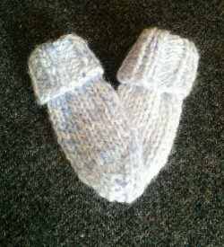 Blue Baby Mitts